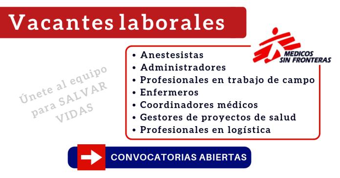 MSF medecins sans frontieres empleo