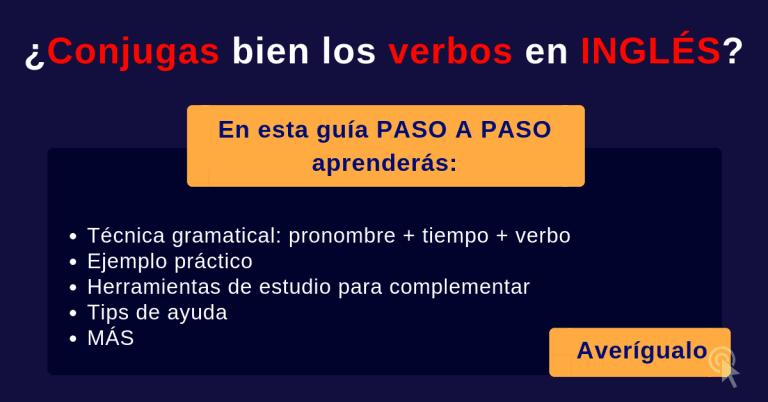 Conjugación de verbos en inglés técnica