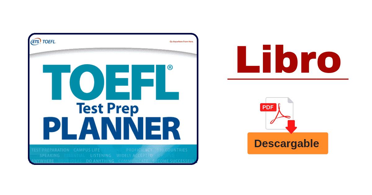 Libro PDF De Preparación TOEFL Preparation Planner