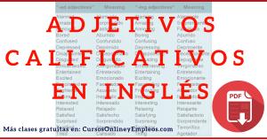 adjetivos calificativos inglés