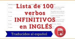 verbos infinitivos en ingles