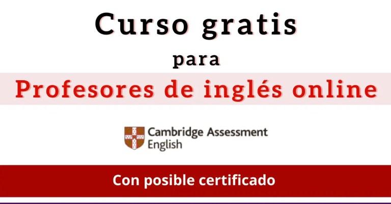 enseñar ingles online curso gratis