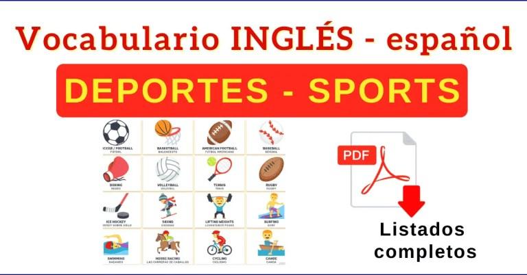 deportes en ingles vocabulario