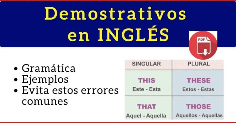 pronombres demostrativos en ingles