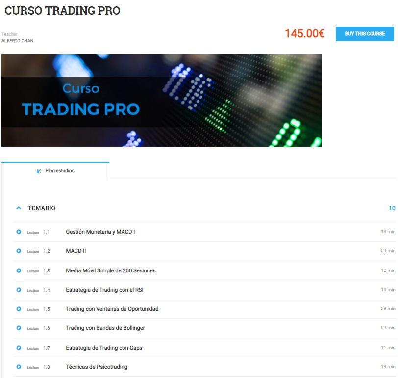 curso trader profesional