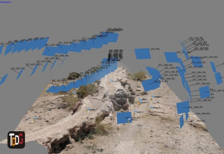 Modelo 3D con dianas de referencia