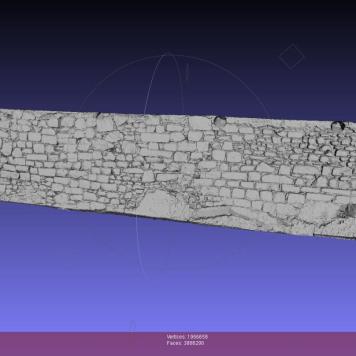 Modelo 3D creado en base a la nube de puntos de TLS