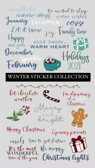 Winter sticker Instagram collection Theo