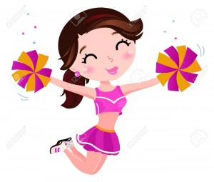 14038527-Cute-happy-cheerleader-Illustration-Stock-Vector-cheerleader-girl-cheerleading