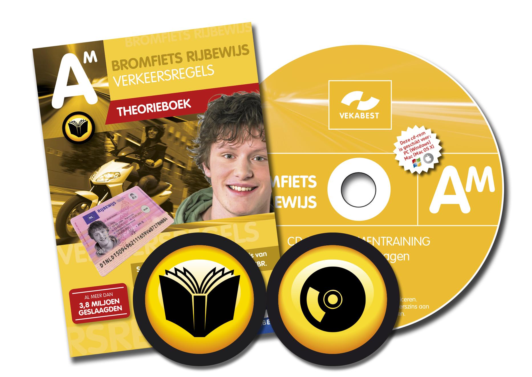Bromfiets theorieboek + CD-ROM