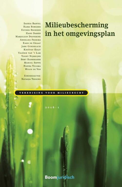 Milieubescherming in het omgevingsplan - Paperback (9789462903586)