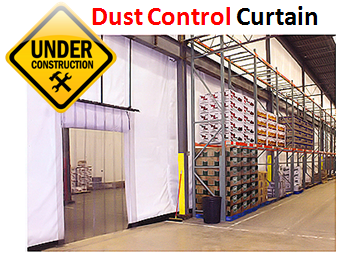 Industrial Dust Control Curtains  Akon  Curtain and Dividers