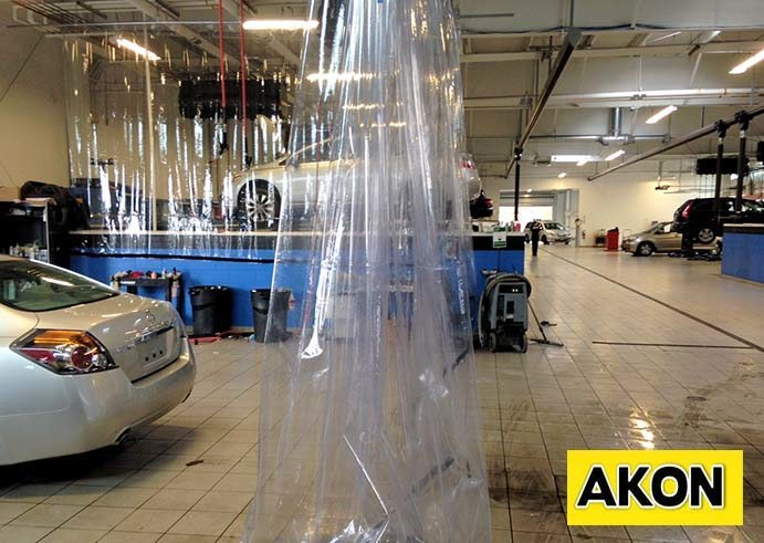 Curtain For Paint Spray Booth  Akon  Curtain and Dividers