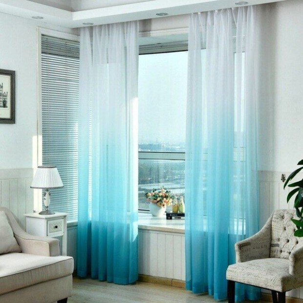 Blue Tulle Curtains, With Stars, Baby **2021 Curtain