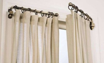 Rustic Curtain Pole, Openable, For Living Room **2021 Rod Curtain