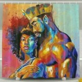 Afrocentric Shower Curtain **2021 Shower Curtain