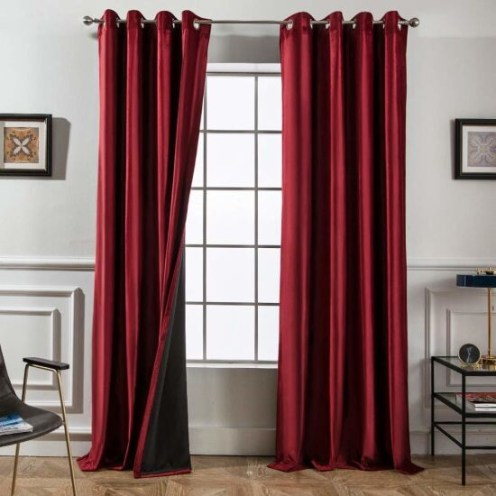 Great Red Bedroom Curtains Decor Ideas Curtain