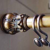 Choosing and Install Vintage Curtain Rods and Brackets Rod Curtain
