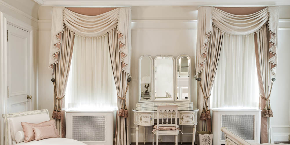 Fashionably French Styled Bedroom Interior Design Window