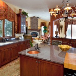 Kitchen Desing Decorate Traditional Window Treatment For Above The Sink ...