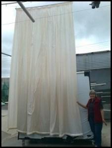A 4 meter high Curtain.