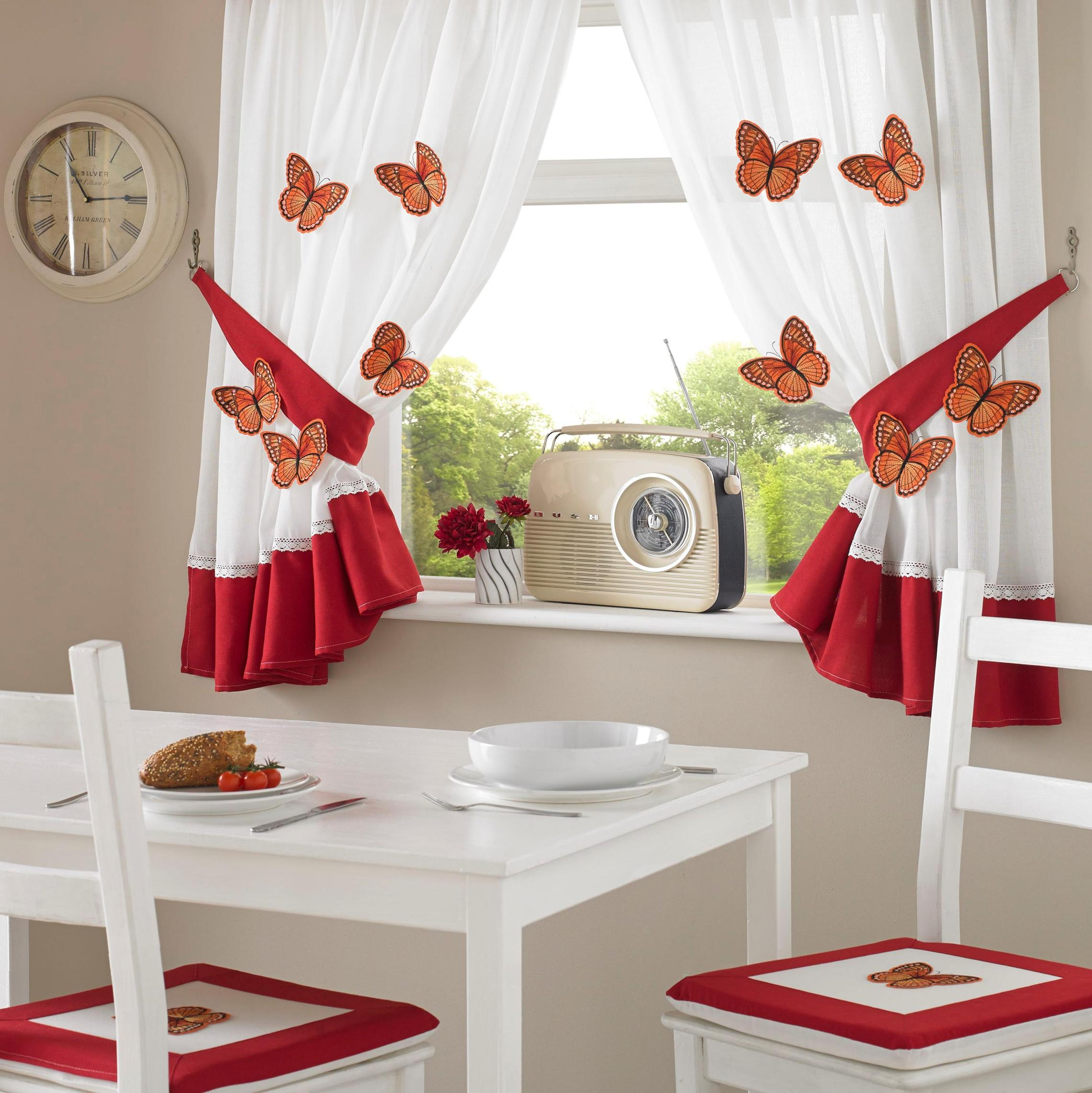 3D Butterfly Kitchen Curtains  Curtains At Home