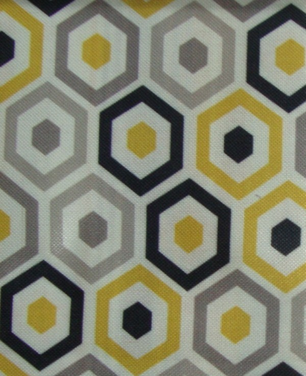 Geometric Print Upholstery Fabric
