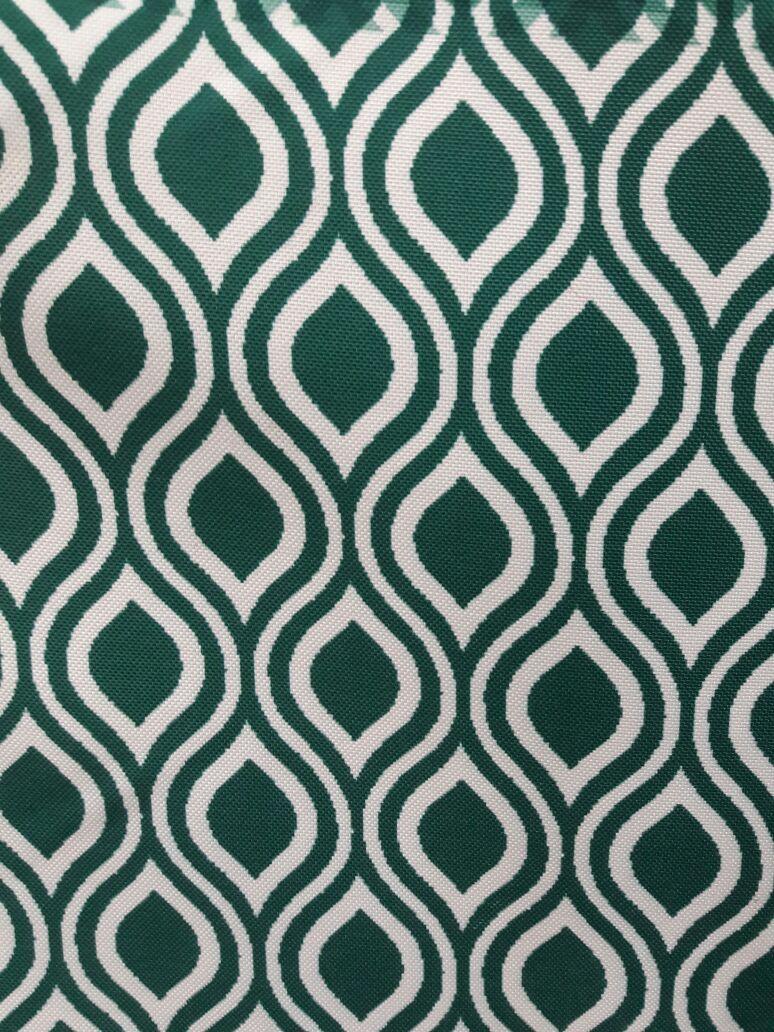 arte deco curtain fabric green