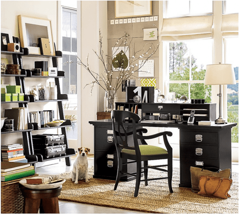 Design Ideas for Home Office Window Treatments
