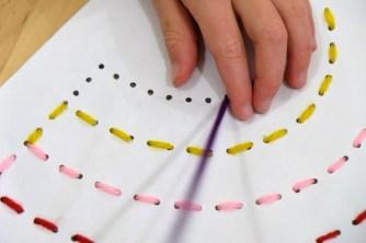 stitching the rainbow template