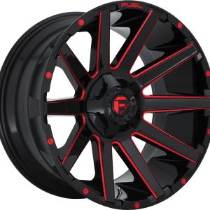 Contra Gloss Black Milled Red D643
