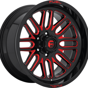 Ignite Gloss Black Milled Red D663