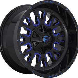 Stroke Gloss Black Milled Blue D645