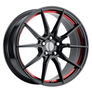 PR193 Gloss Black Red Machined