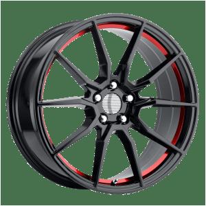 PR193 Gloss Black Red Machined