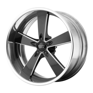 Burnout Two-Piece Black Milled Center Polished Rim