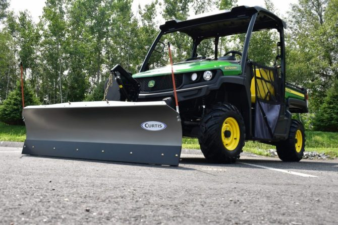 curtis industries  fully hydraulic utv plow  lift and