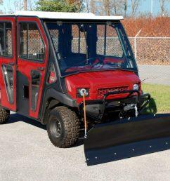 kawasaki mule all steel adjustable plow [ 1800 x 1322 Pixel ]