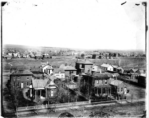Looking West From Gilpin School, Historic Curtis Park