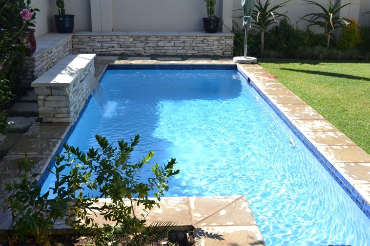 Beautiful swimming pool in a garden setting