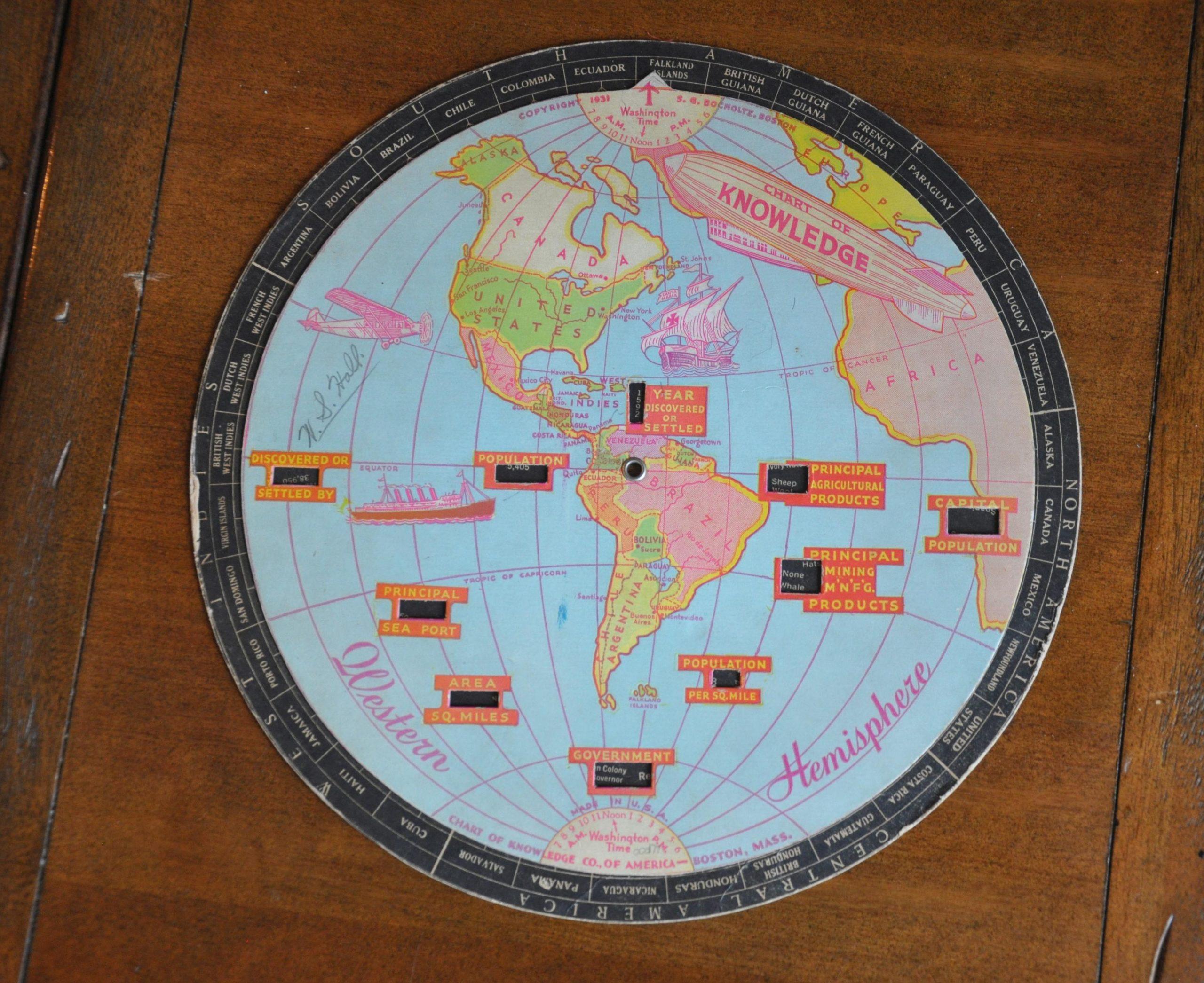 Chart Of Knowledge Western Hemisphere