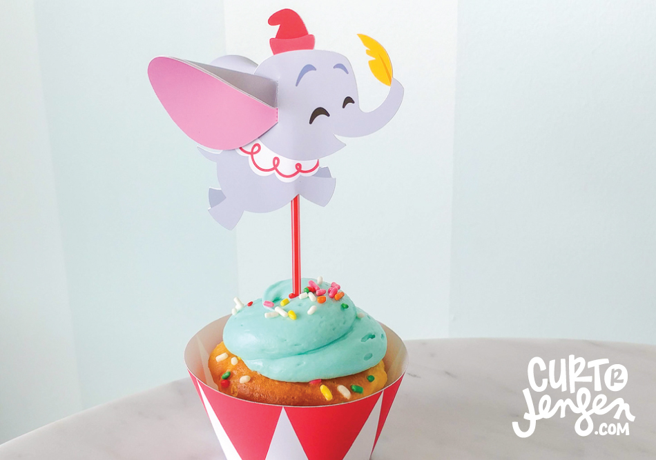 Free Printable Dumbo Cupcake Toppers