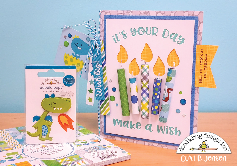 Interactive Candle Card by Curt R. Jensen