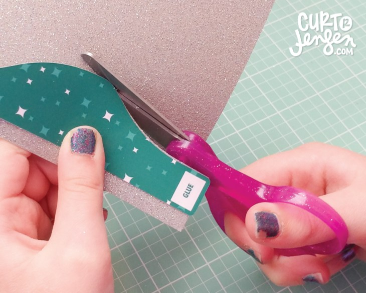 Or customize your bow with glitter scrapbook paper.