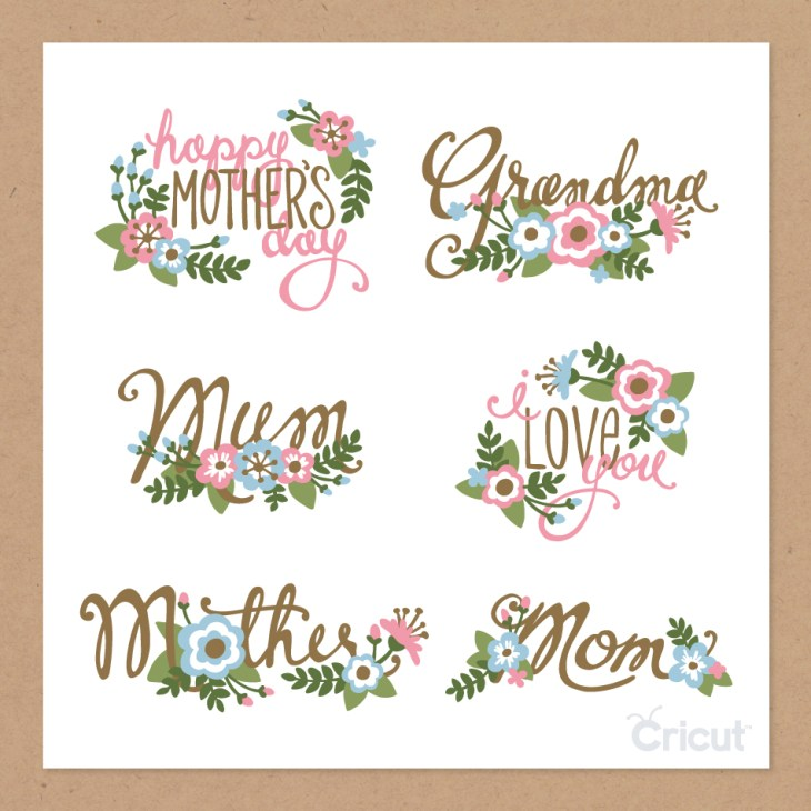 Mother's Day Phrases - Cricut