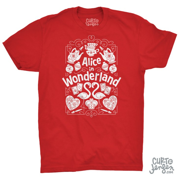 You can purchase a T-shirt, mug, tote, and more featuring my Alice in Wonderland art, exclusively on TeePublic.com.