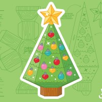 Christmas Tree Gift Card Holder