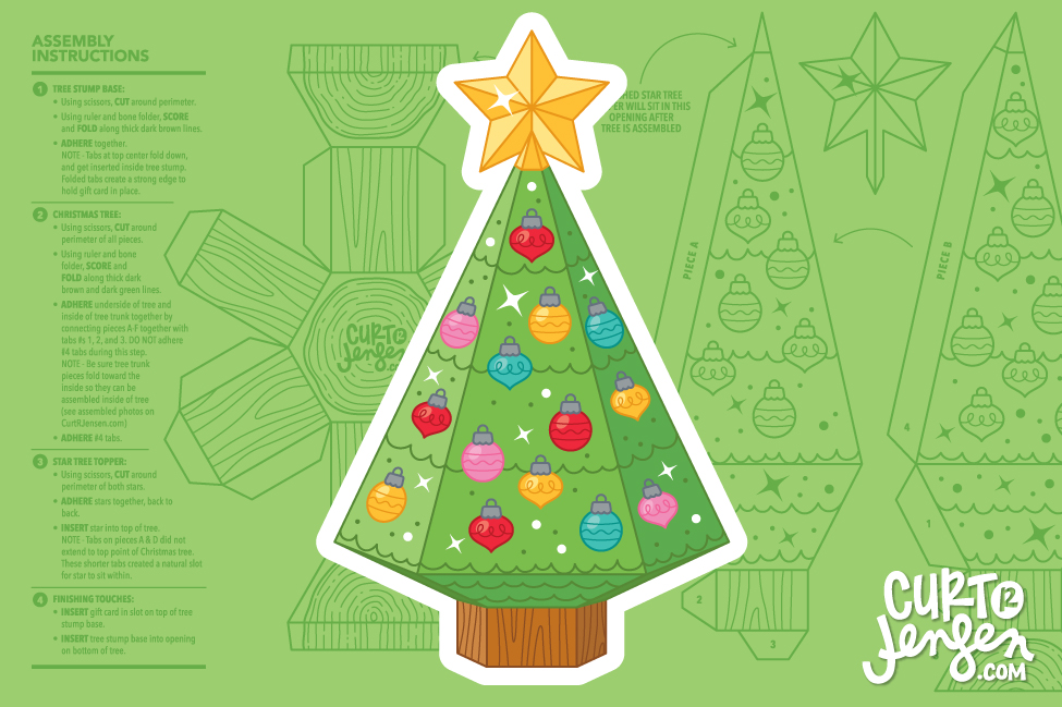 Christmas Tree Gift Card Holder by Curt R. Jensen