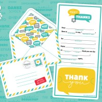 Mad Lib Thank You Card & Envelope