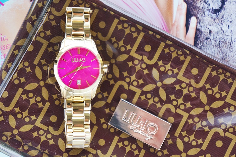 liu jo tess gold fuchsia 5 - New in | Liu Jo horloge